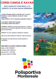 corsi canoa 2021